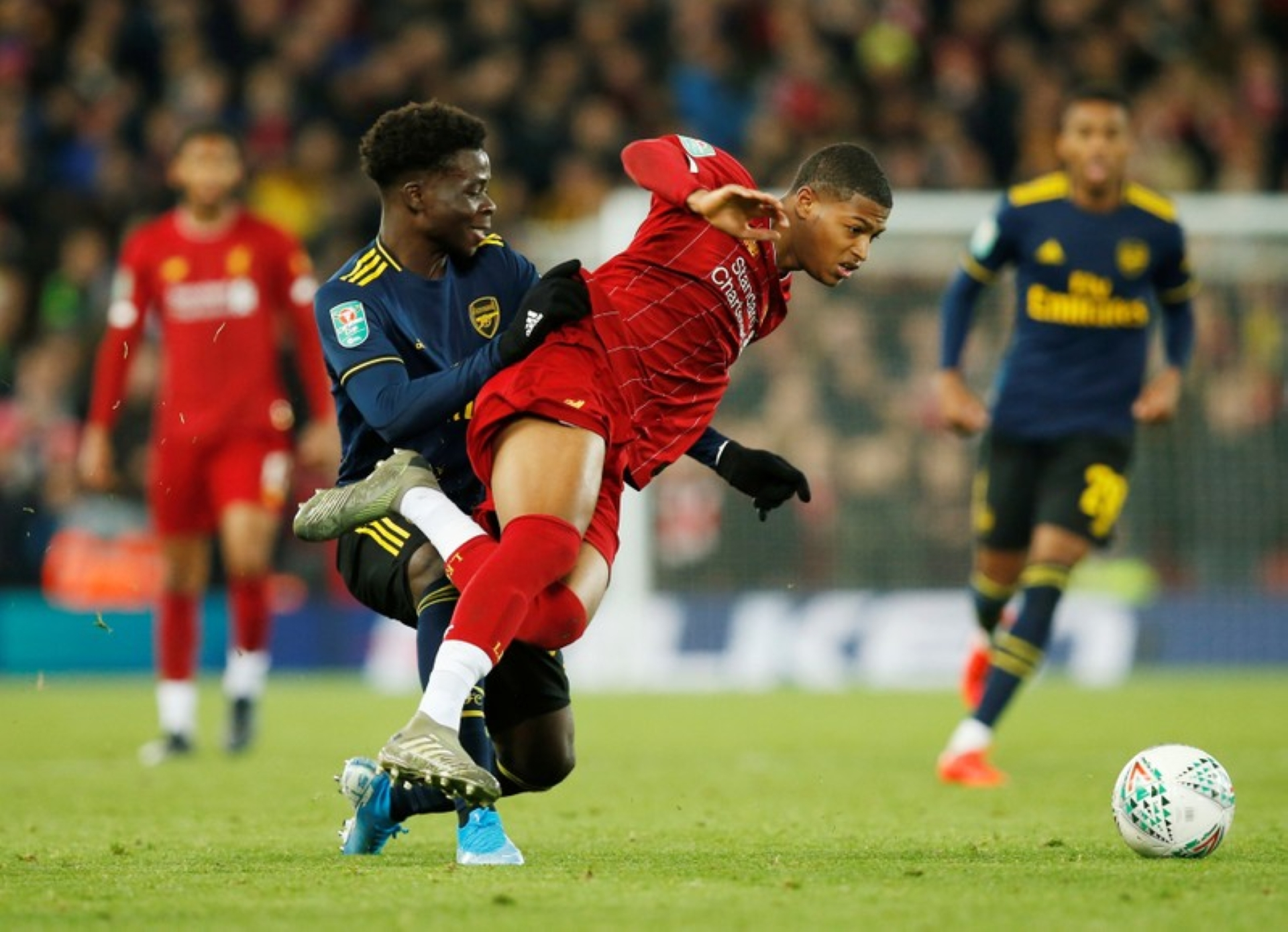 Bukayo Saka Rates High In Arsenal's Carabao Cup Loss To Liverpool