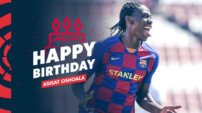 Asisat Oshoala Receives Special 25th Birthday Messages From La Liga, NFF