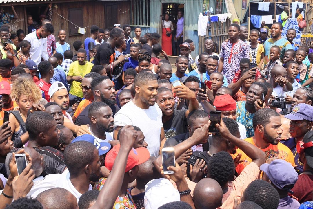 Anthony Joshua Takes Inspiration From Trip To Lagos, Tour Of Makoko