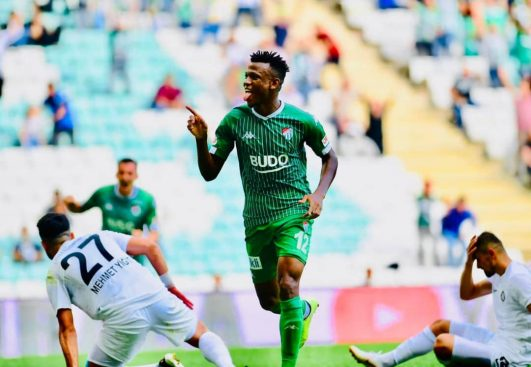 Abdullahi Eyes Promotion, Thanks Bursaspor's Fans For Another Win