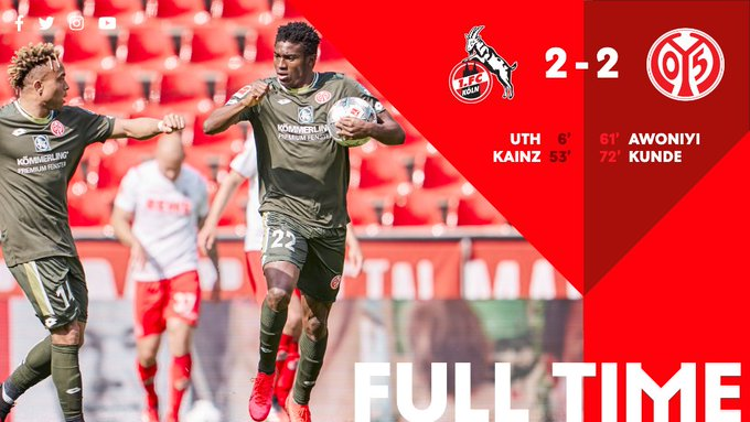 Taiwo Awoniyi Admits Delight In Scoring First Ever Goal For SV Mainz