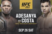 Adesanya Targets Early Win Over Costa In Saturday's UFC Title Defence