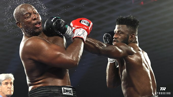 Efe Ajagba Survives Broken Wrist For Points' Victory On Top Rank Debut